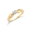9ct Yellow Gold 0.26ct Diamond Ring TGC-DR0253