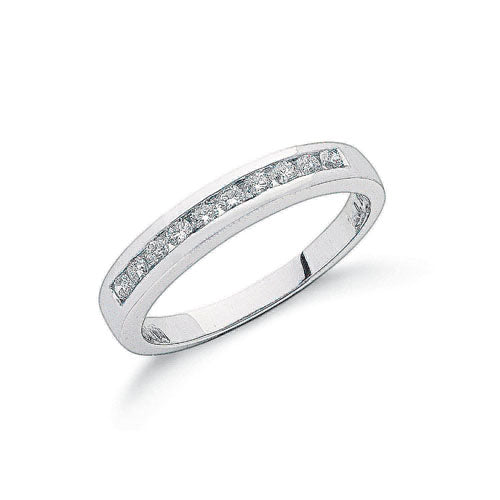 Platinum 0.25ct G/H-Vs Diamond Eternity Ring TGC-DR0354
