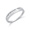 9ct White Gold 0.50ct Baguette Cut Diamond Eternity Ring TGC-DR0370