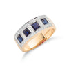 9ct Yellow Gold Diamond & Blue Sapphire Eternity Ring TGC-DR0380