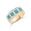 9ct Yellow Gold Diamond & Emerald Eternity Ring TGC-DR0381