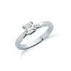 18ct White Gold 0.50ct Princess Cut Diamond Engagement Ring TGC-DR0400