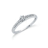 9ct White Gold 0.17ct Diamond Engagement Ring TGC-DR0438