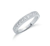 18ct White Gold 1.00ctw Princess Cut Diamond Eternity Ring TGC-DR0477