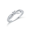9ct White Gold 0.26ct Diamond Ring TGC-DR0488