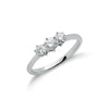 18ct White Gold 0.50ct Diamond Trilogy Ring TGC-DR0581