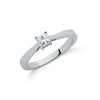 9ct White Gold 0.25ct Princess Cut Diamond Engagement Ring TGC-DR0605
