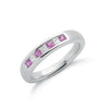 9ct White Gold Diamond & Pink Sapphire Eternity Ring TGC-DR0609