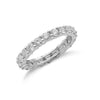 18ct White Gold 2.00ct Full Diamond Eternity Ring TGC-DR0711