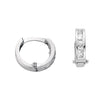 White Gold Princess Cut Cz Hoop Earrings TGC-ER1262
