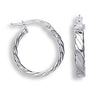 White Gold Fancy Twisted Hoop Earrings TGC-ER1267