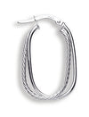 White Gold Fancy Double Hoop Earrings TGC-ER1333