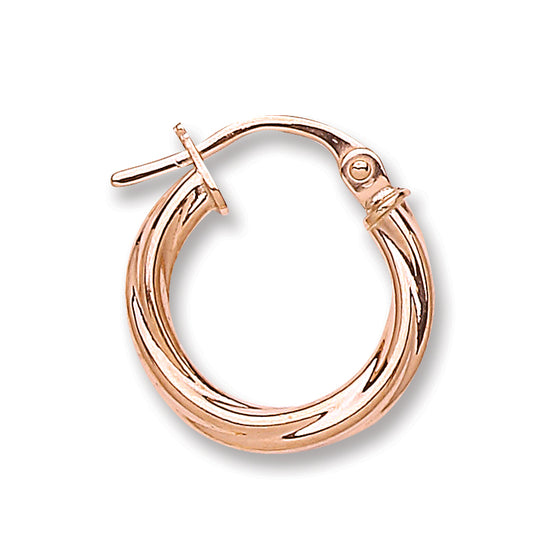 Rose Gold Twisted Hoop Earrings TGC-ER1433