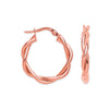Rose Gold Twist Hoop TGC-ER1485