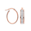 Rose Gold Moondust p/c Illusion Oval Hoop Earrings TGC-ER1560