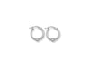 White Gold Glitter Ball Hoop Earrings TGC-ER0781