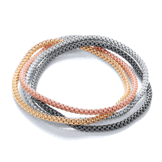 4 Strand Multi Colours Fancy Bracelet TGC-JZBR009