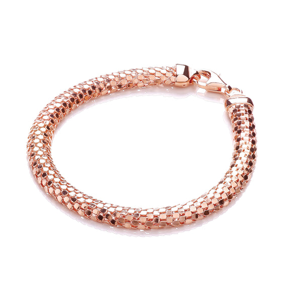 D-Shape Rose Colour Mesh Bracelet TGC-JZBR015