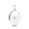 White Gold Oval Locket with Diamond TGC-LK0132