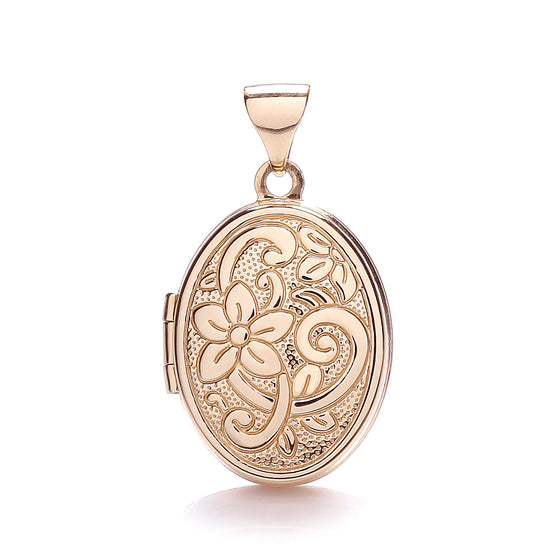 Rose Gold Oval Shaped Locket  TGC-LK0135