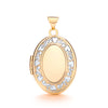 Yellow & White Gold Oval Shaped Locket TGC-LK0145