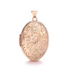Rose Gold Oval Locket with design TGC-LK0148