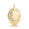 Yellow & White Gold Oval Flower design Locket TGC-LK0156