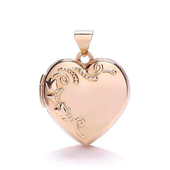 Rose Gold Heart Shape Locket with design TGC-LK0169