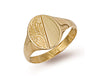 Yellow Gold Engraved Oval Signet Ring TGC-R0118