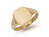 Yellow Gold Cushion Plain Signet Ring TGC-R0119