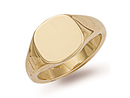 Yellow Gold Cusion Top Signet Ring TGC-R0131