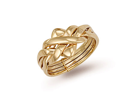 Yellow Gold 4 Piece Puzzle Ring TGC-R0139