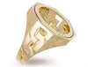 Yellow Gold Full ID Sides Sovereign Ring TGC-R0014F
