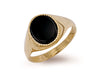 Yellow Gold Plain Onyx Ring TGC-R0165