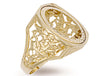 Yellow Gold Half Square Top George & Dragon Sovereign Ring TGC-R0016H