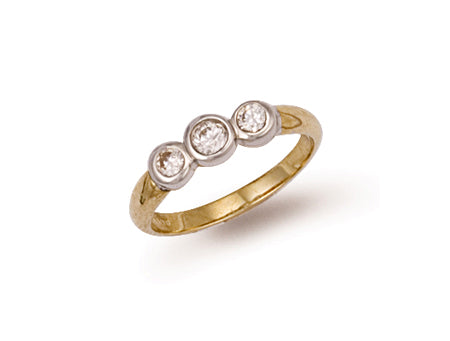 Yellow Gold Fancy Cz Ring TGC-R0252