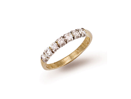 Yellow Gold Cz Ring TGC-R0258