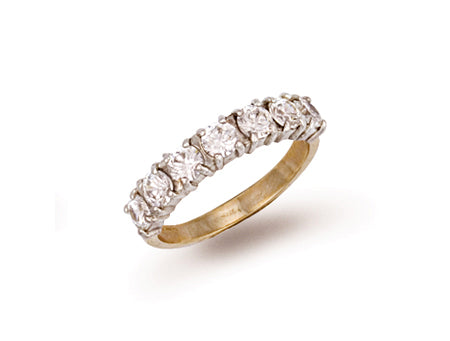 Yellow Gold Cz Ring TGC-R0259