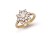 Yellow Gold Cz Cluster Ring TGC-R0263