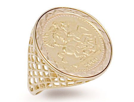Yellow Gold Full Coin Ring TGC-R0026