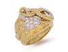 Yellow Gold Cz Saddle Ring TGC-R0379