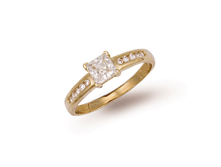 Yellow Gold Fancy Cz Ring TGC-R0462