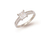 White Gold Fancy Cz Ring TGC-R0465