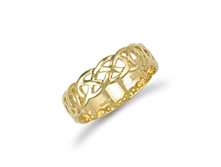 Yellow Gold Celtic Ring TGC-R0560