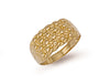 Yellow Gold Light Weight 4 Row Keeper Ring TGC-R0062