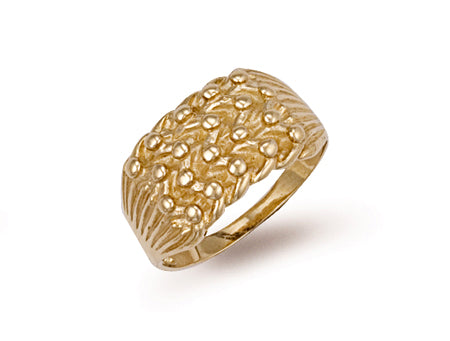 Yellow Gold Light Weight 4 Row Keeper Ring TGC-R0063