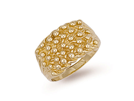 Yellow Gold Woven Back 5 Row Keeper Ring TGC-R0067