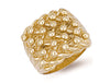Yellow Gold Woven Back 5 Row Keeper Ring TGC-R0070