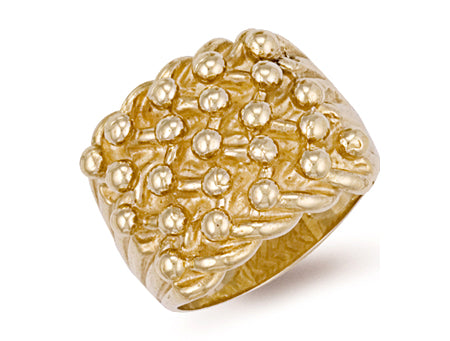 Yellow Gold Woven Back 5 Row Keeper Ring TGC-R0071