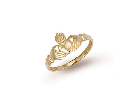 Yellow Gold Baby Claddagh Ring TGC-R0088